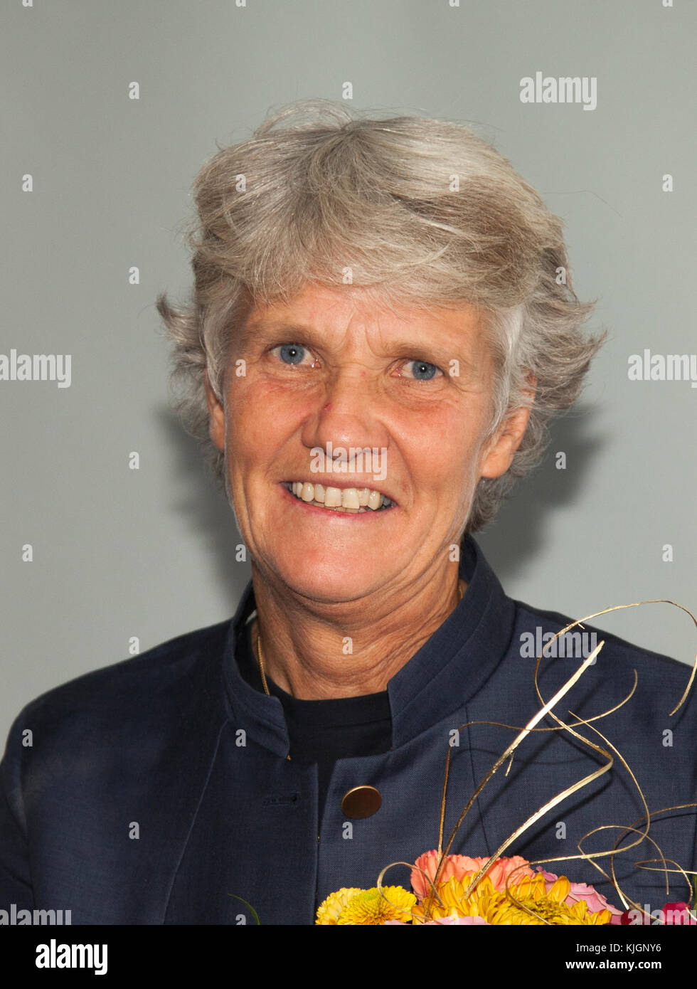 PIA SUNDHAGE 2017 former coach for the Swedish and American National team in Football - Stock Image