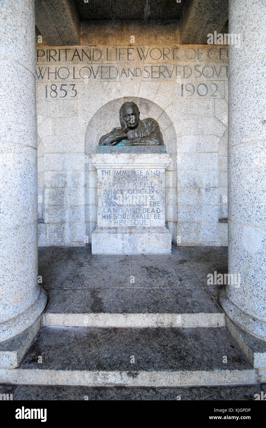 Cape Town, South Africa - March 25, 2012: The Rhodes Memorial monument in Cape Town, South Africa, on Table Mountain, Stock Photo
