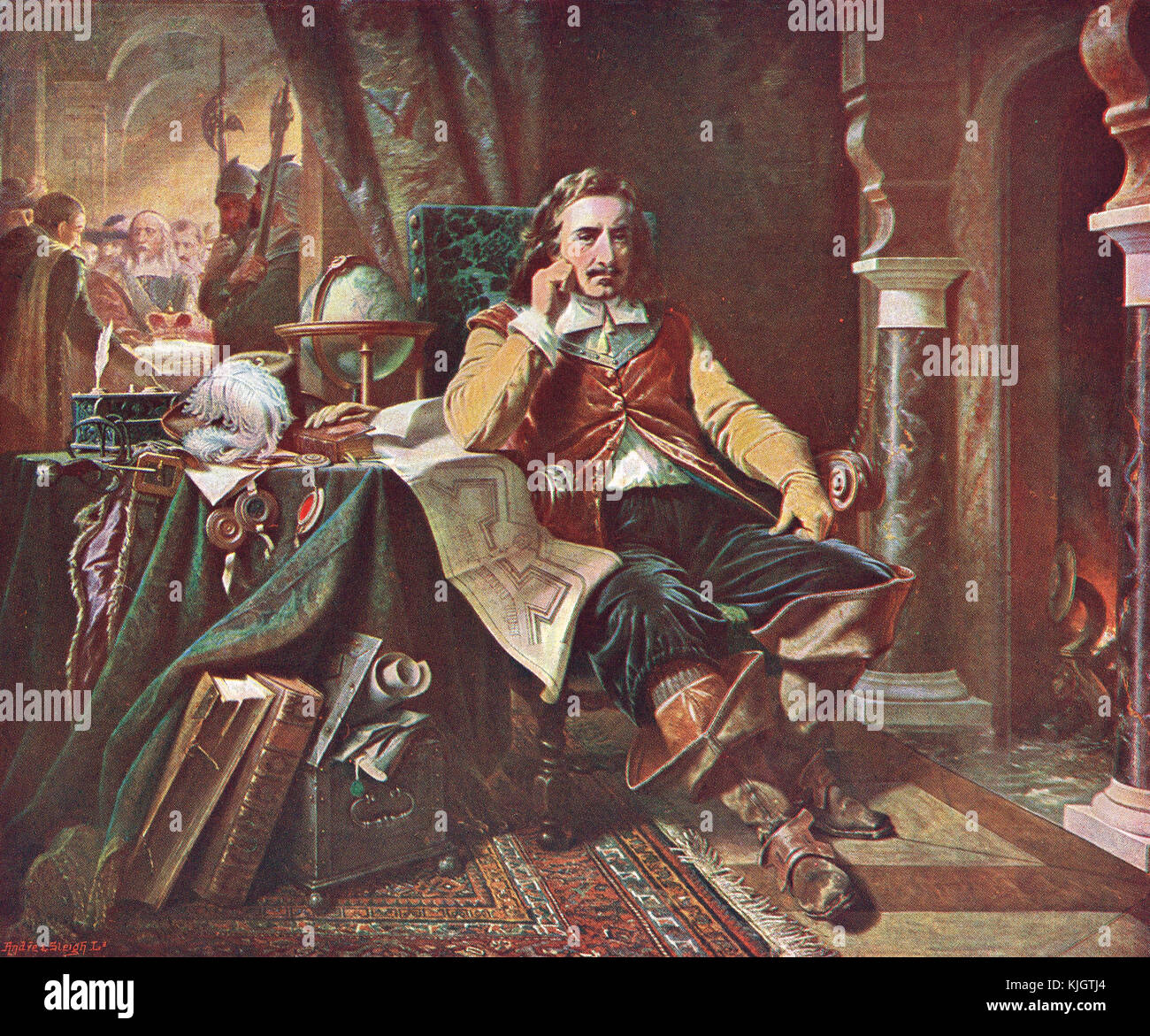 Oliver Cromwell refusing the Crown of England, 1657 - Stock Image