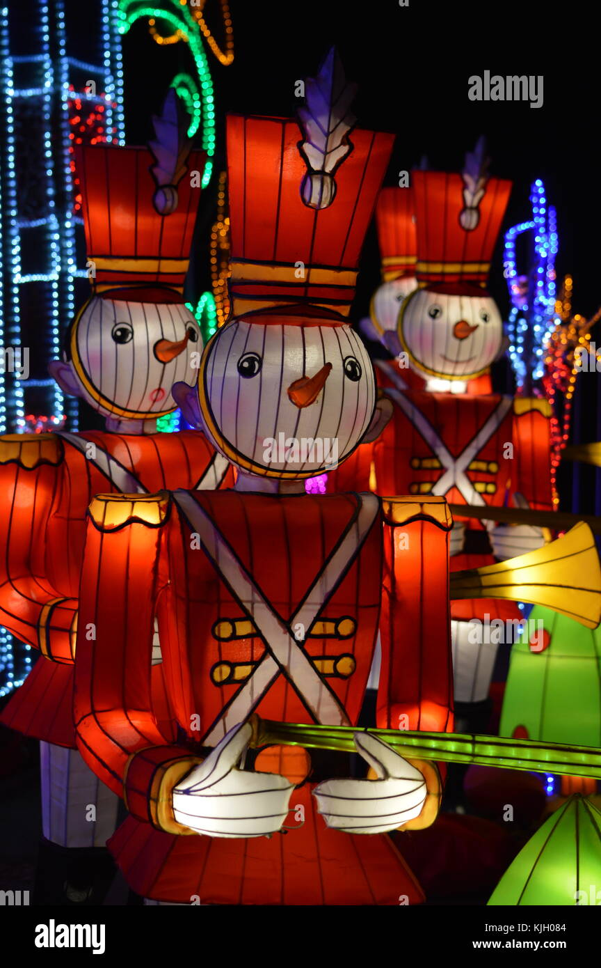 London, UK. 23rd Nov, 2017. The Magical Lantern Festival, inspired by the Chinese New Year celebrations enters into - Stock Image