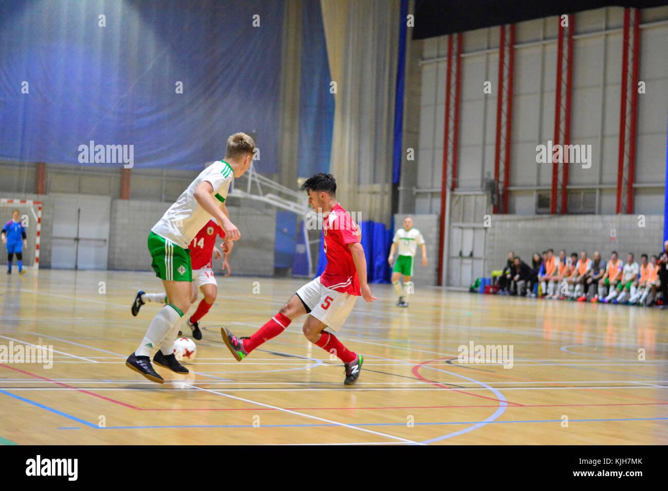 Gibraltar. 24th November, 2017. Gibraltar FA 6-5 Northern Ireland, International Friendly, Tercentennary Sports - Stock Image