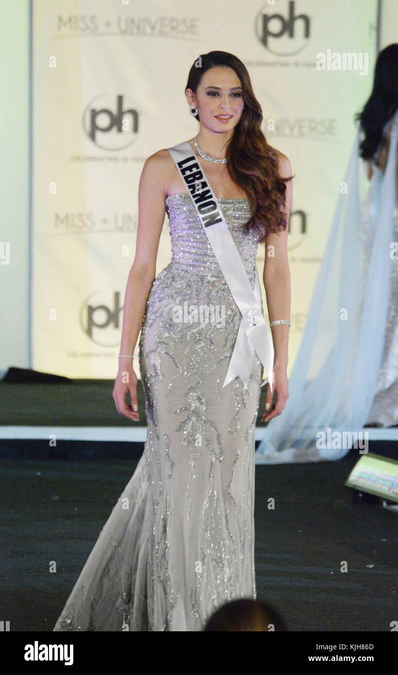 Las Vegas, Nevada, USA. 24th Nov, 2017. Miss Universe Lebanon Jana ...