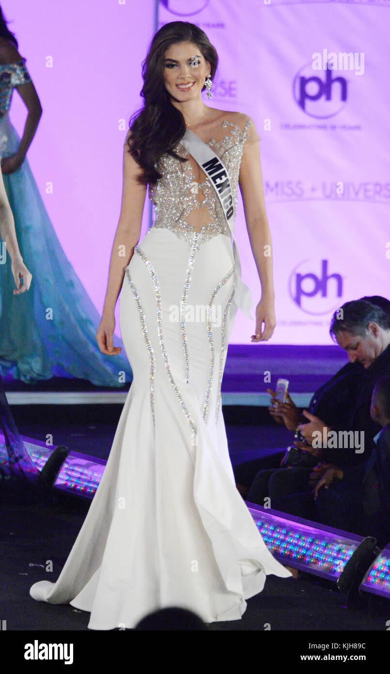 Las Vegas, Nevada, USA. 24th Nov, 2017. Miss Universe Mexico Denisse ...