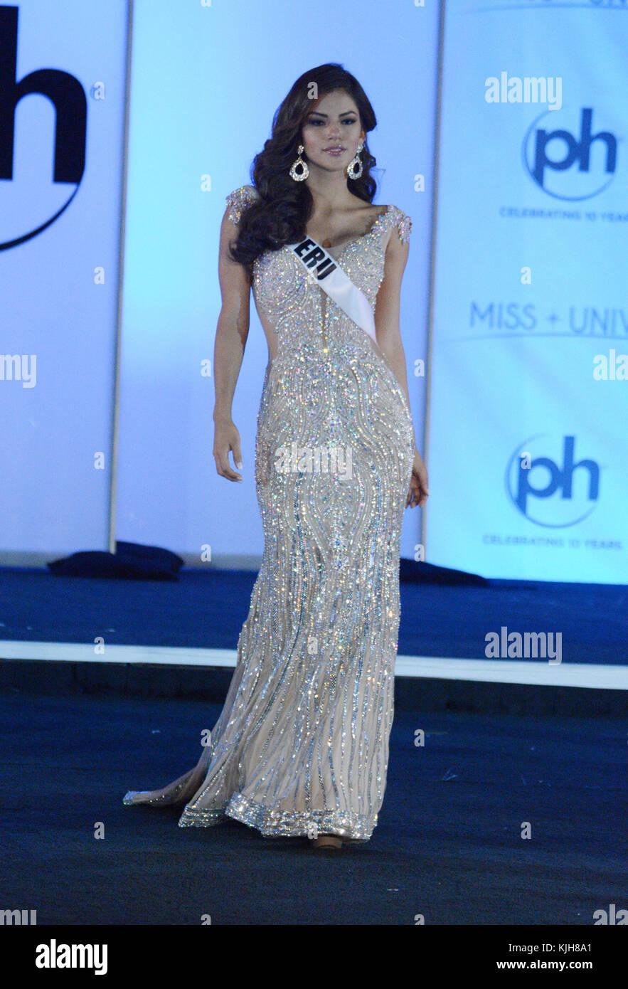 Las Vegas, Nevada, USA. 24th Nov, 2017. Miss Universe Peru Prissila ...