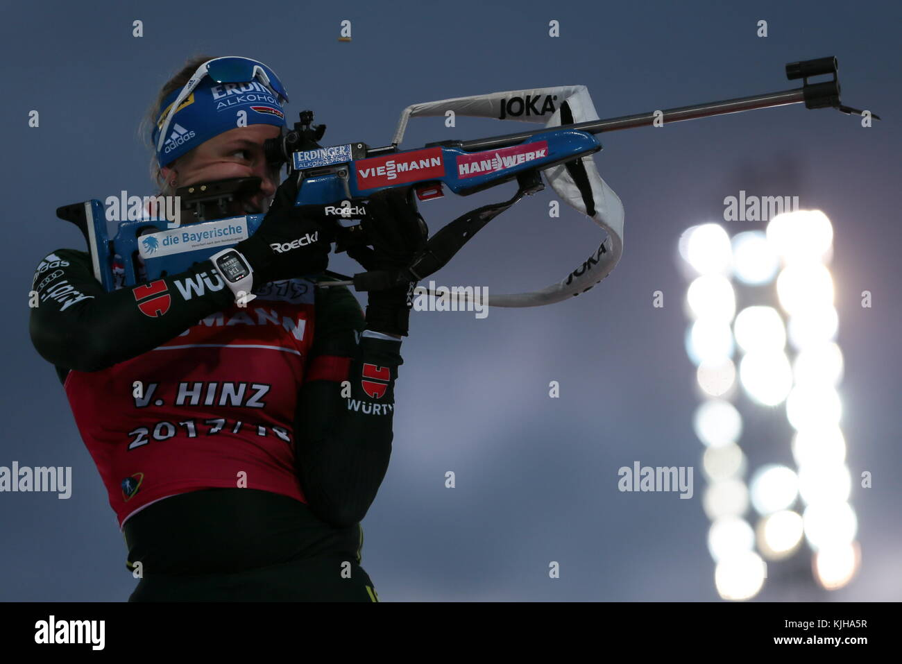Ostersund, Sweden. 25th Nov, 2017. Biathlete Vanessa Hinz of Germany training before the start of the 2017/18 Season - Stock Image