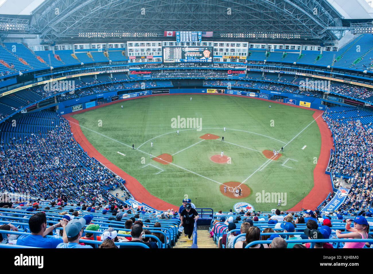 Rogers Centre (originally known as SkyDome) is a multi-purpose stadium in downtown Toronto, Ontario, Canada situated - Stock Image