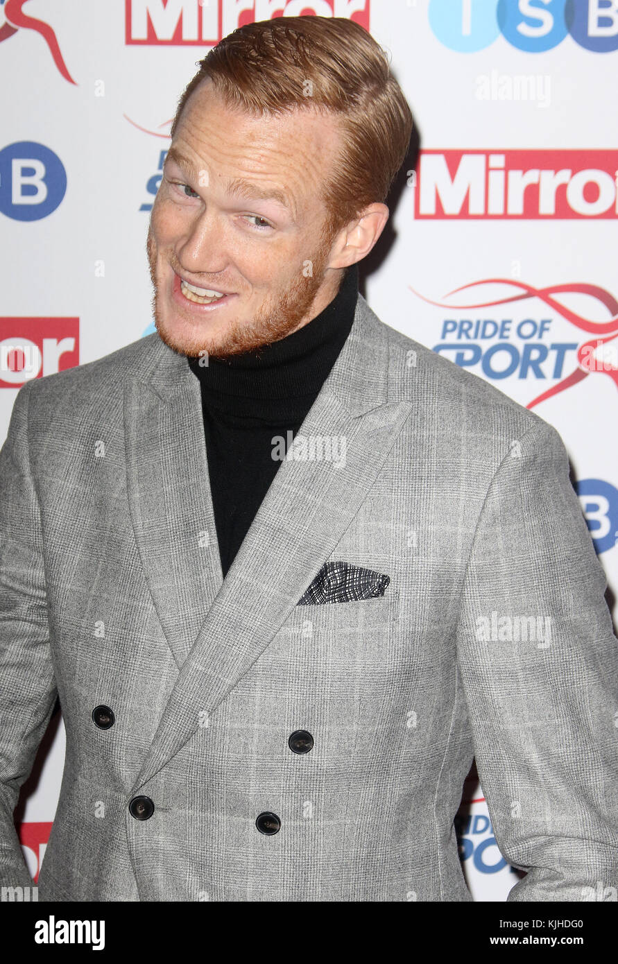Nov 22, 2017 - Greg Rutherford attending Pride of Sport Awards 2017, Grosvenor House Hotel in London, England, UK - Stock Image