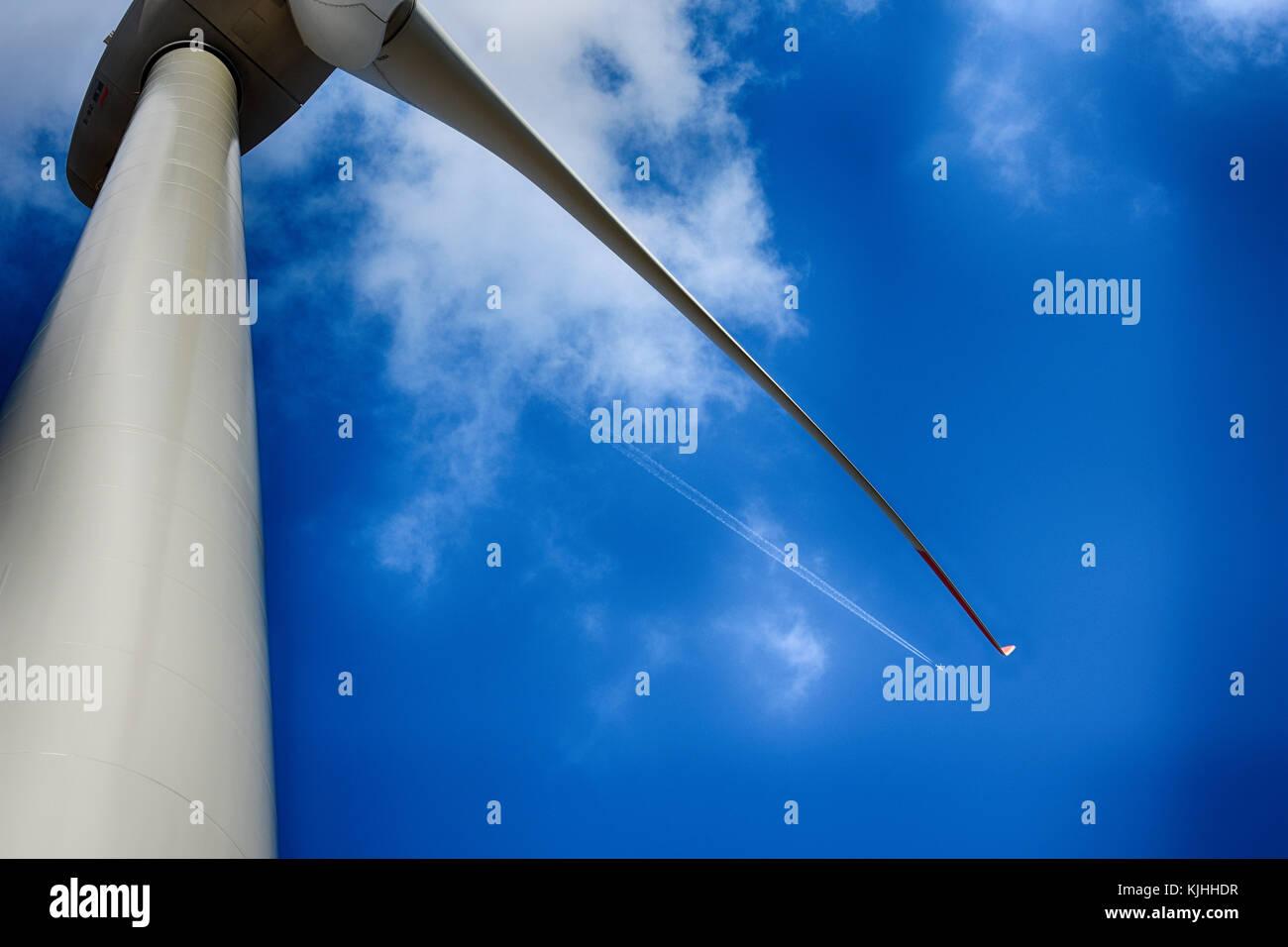 Enercon E82 wind generator plant detail, Danilo near Šibenik
