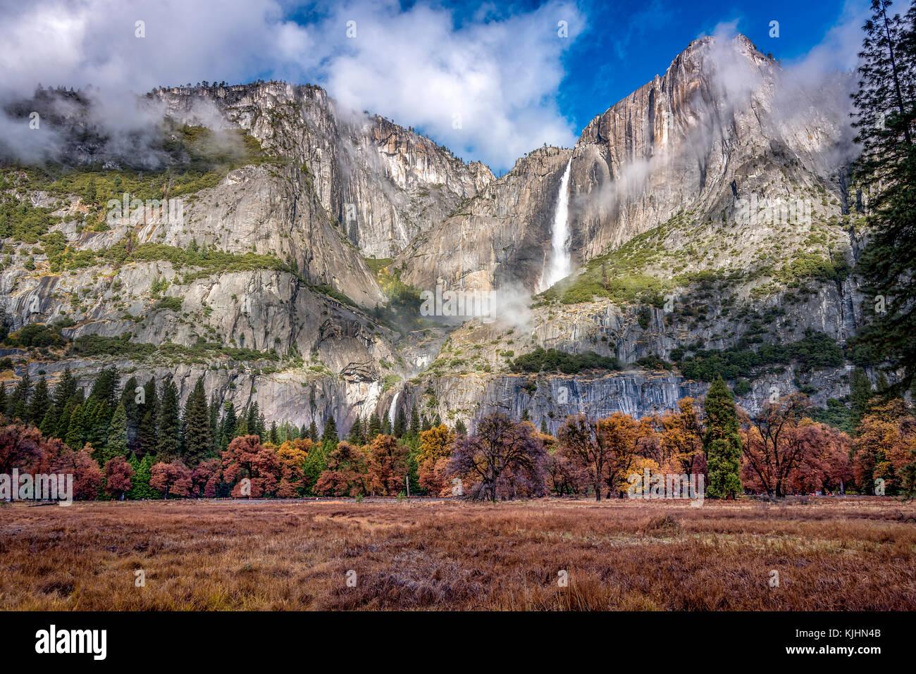 Landscape of Yosemite National Park, California - Stock Image
