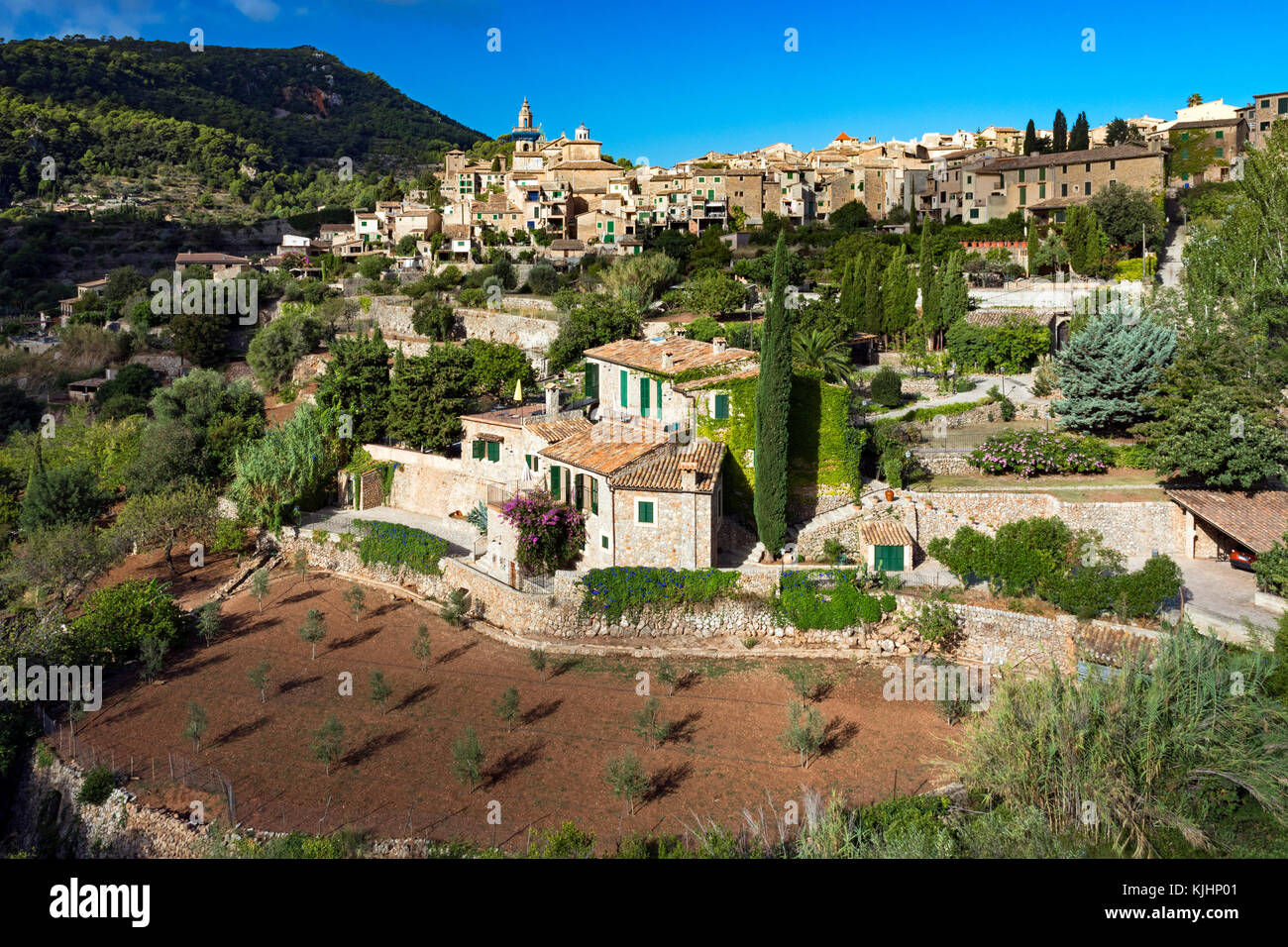 Valldemossa village, Mallorca, Balearic isles, Spain Stock Photo