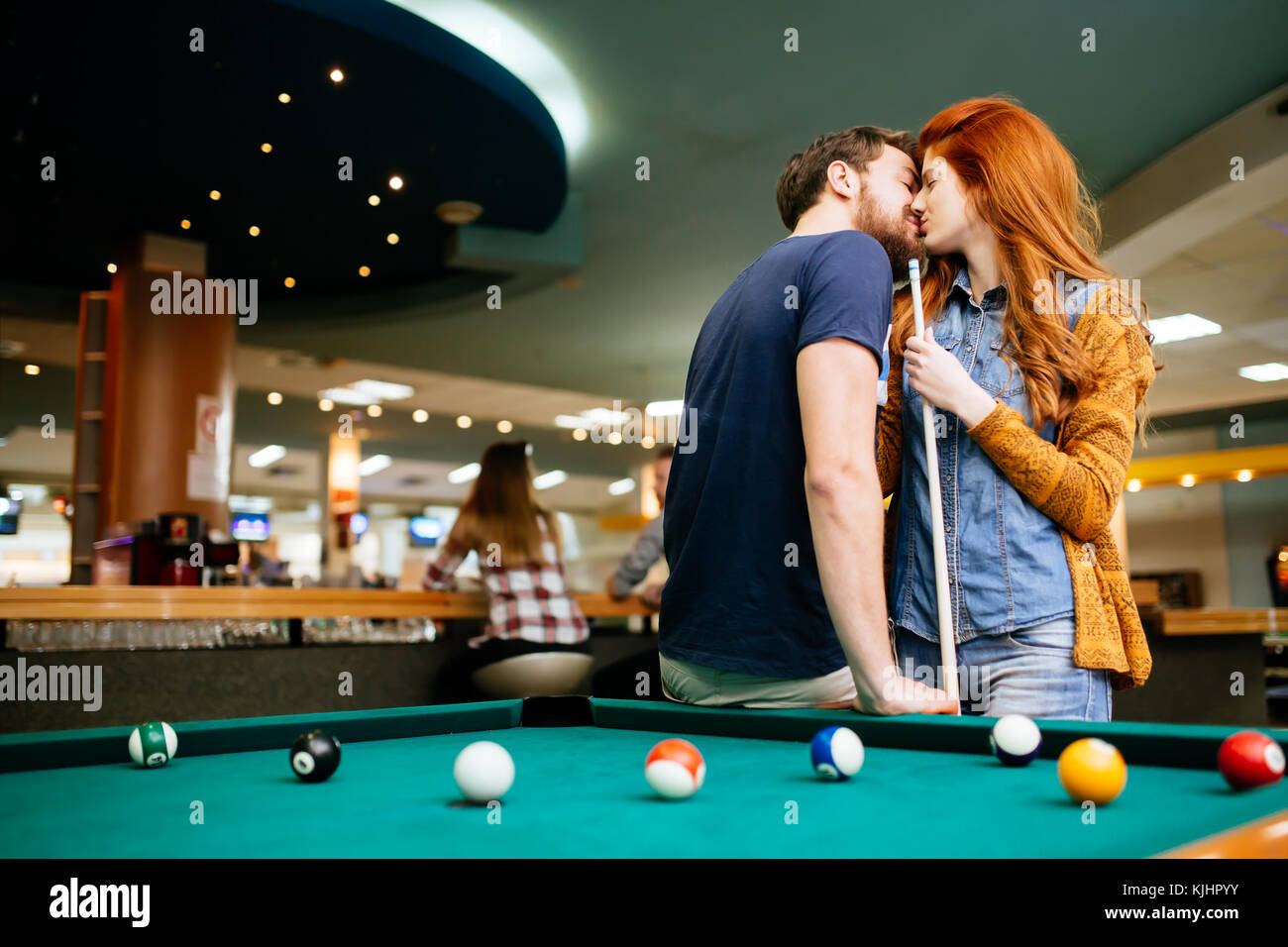 kissing games in the pool