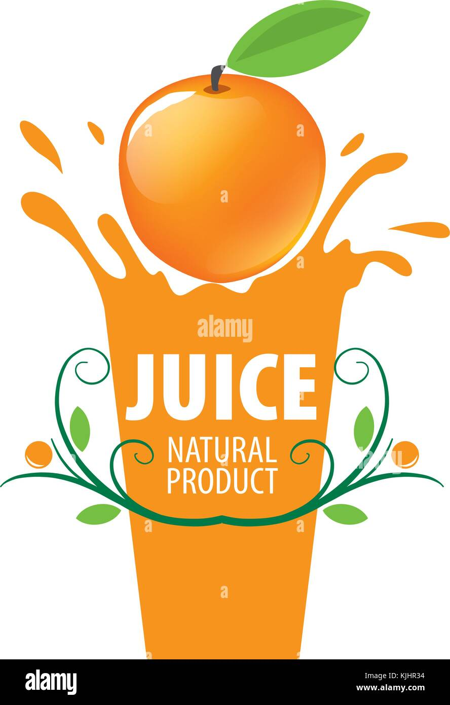 logo of fresh juice Stock Vector Art & Illustration, Vector