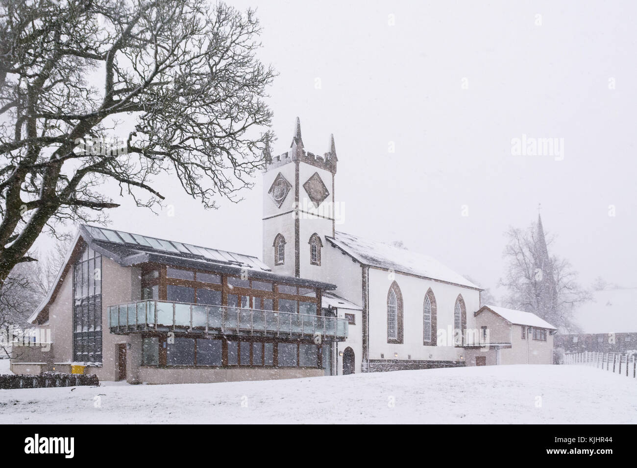 Killearn Village Hall in winter, Killearn, Stirlingshire, Scotland UK - Stock Image