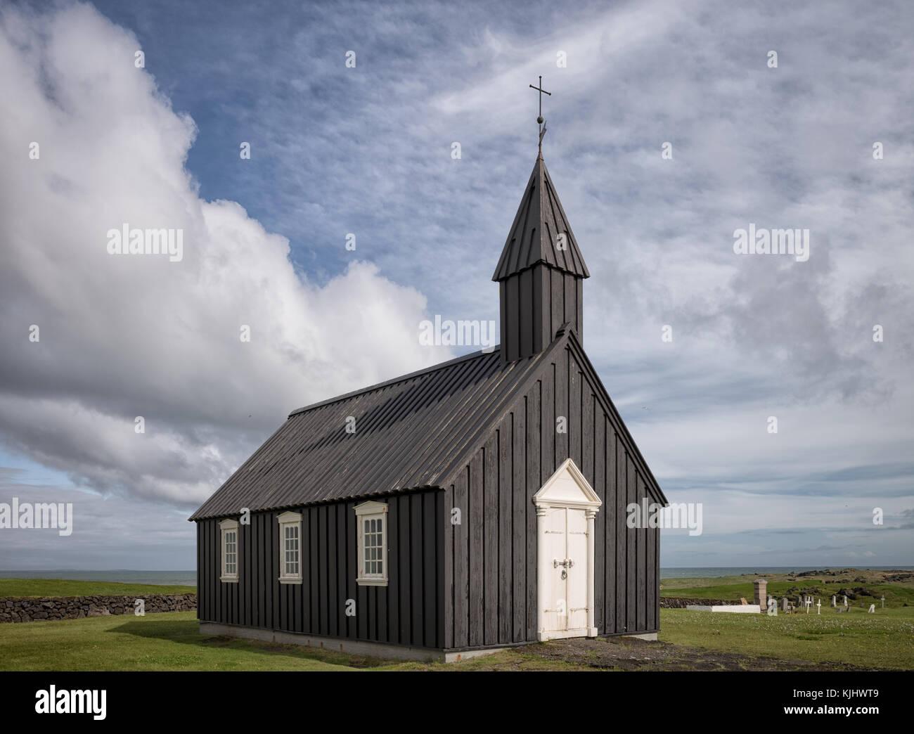 Church, Budir, Iceland - Stock Image