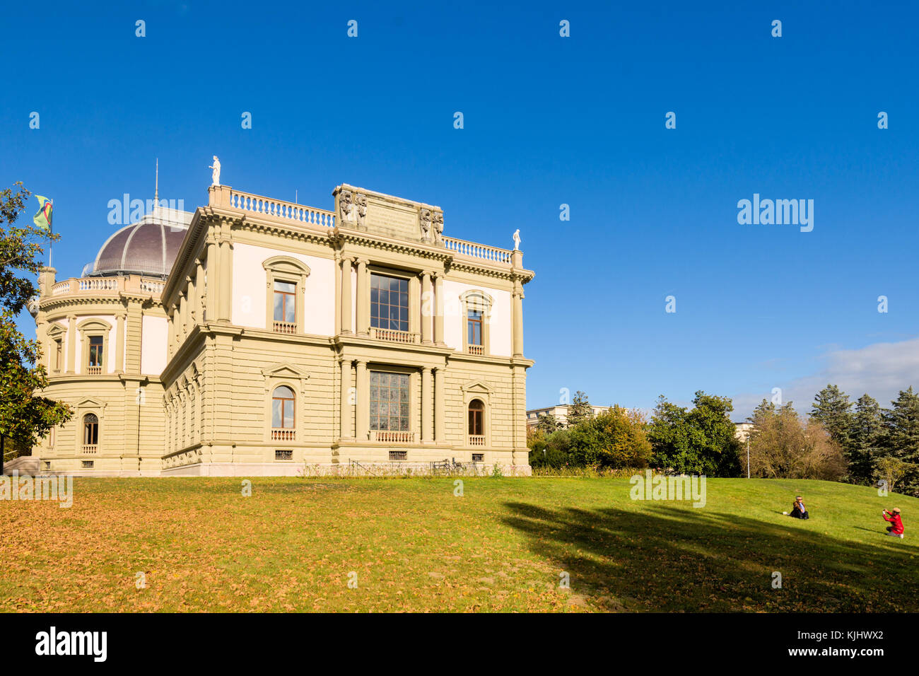 GENEVA, SWITZERLAND – October 30, 2017 : The Ariana Museum, is devoted to ceramic and glass artwork, and contains around 20,000 objects from the last Stock Photo
