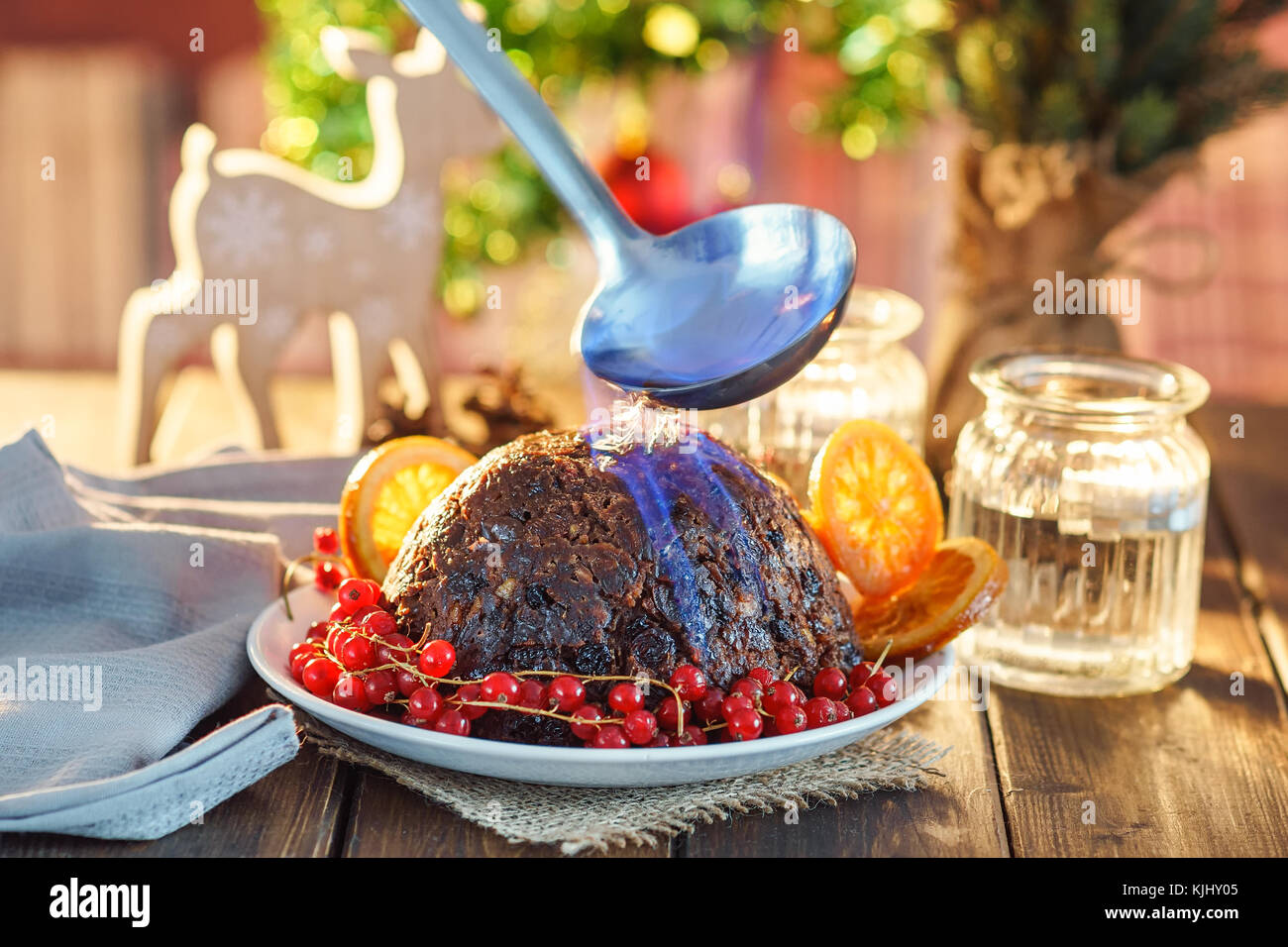 English Christmas pudding - Stock Image