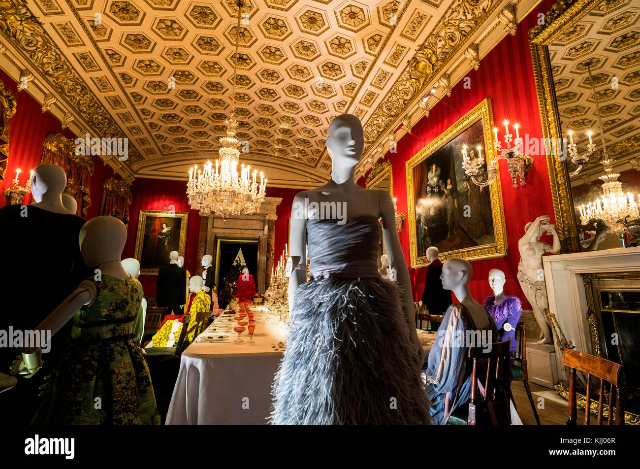 CHATSWORTH HOUSE (1687)           BAKEWELL DERBYSHIRE     UNITED KINGDOM - Stock Image