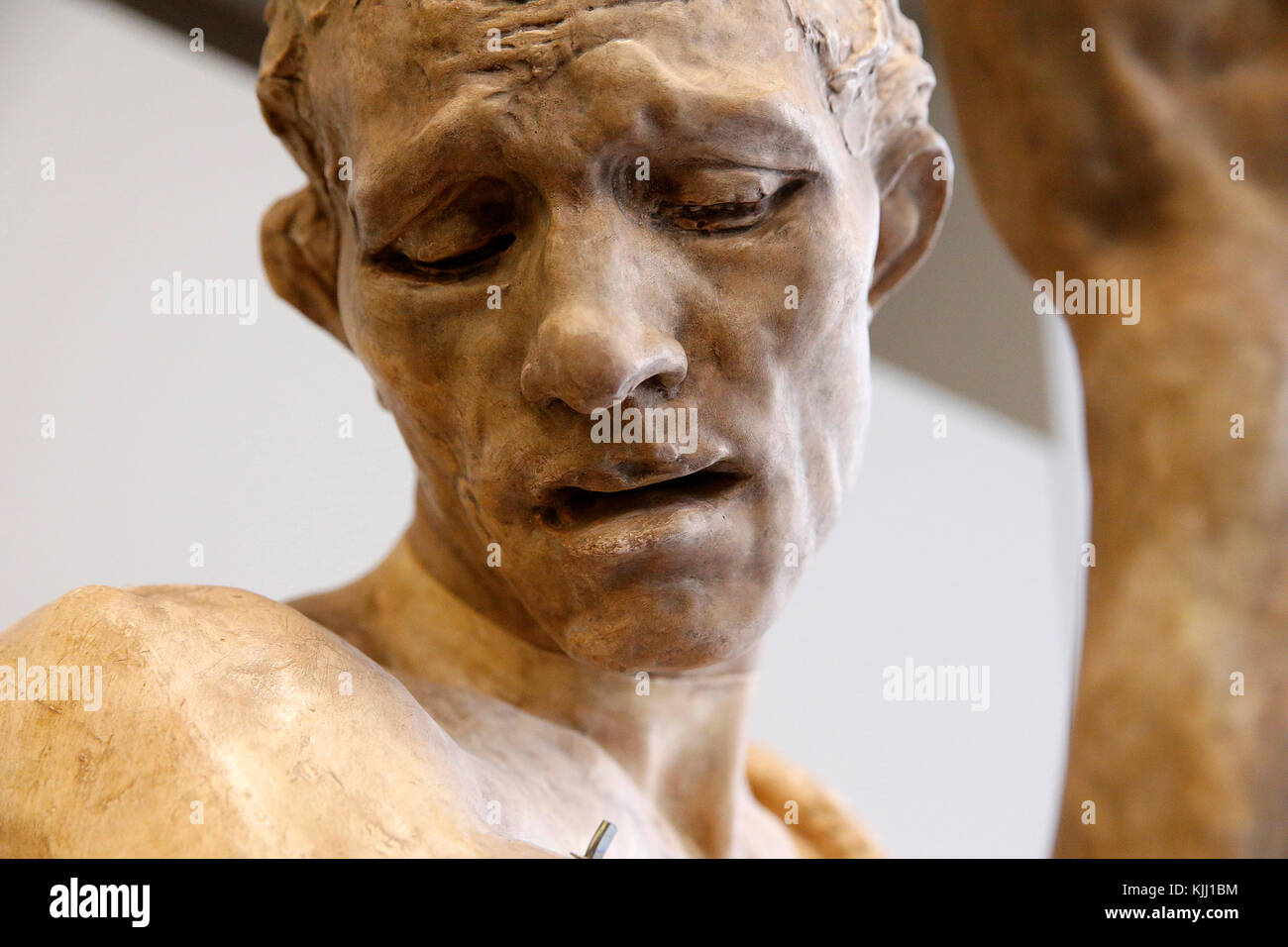 Rodin museum, Paris. Monumental Pierre de Wissant, clothed, also known as The Passerby or A Burgher Offering Himself. - Stock Image
