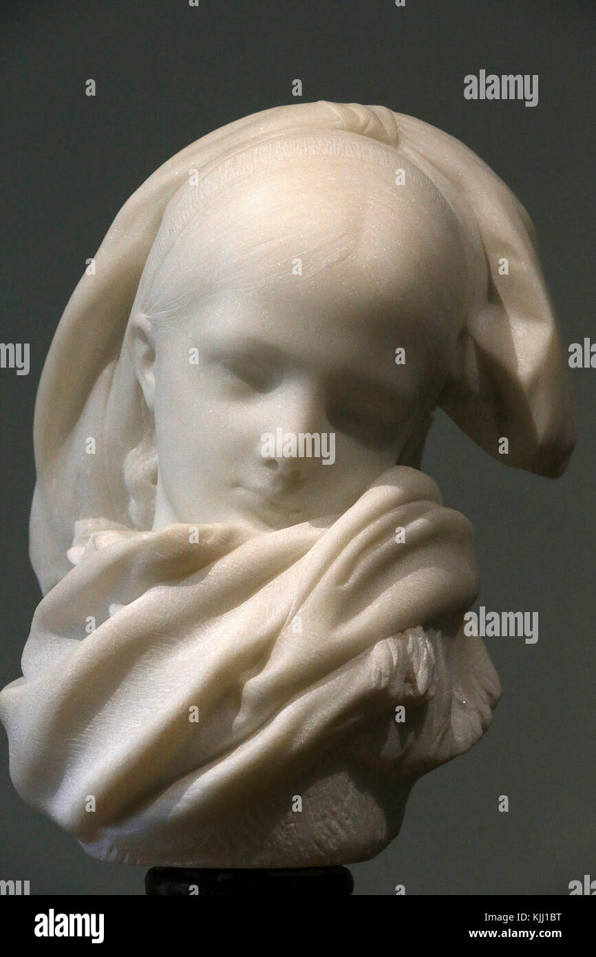 Rodin museum, Paris. The Alsatian orphan. Marble. 1871. France. Stock Photo