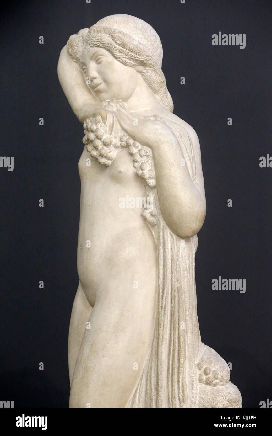 Orsay museum. Joseph Bernard. Tall bacchae. Stone. 1912. France. Stock Photo