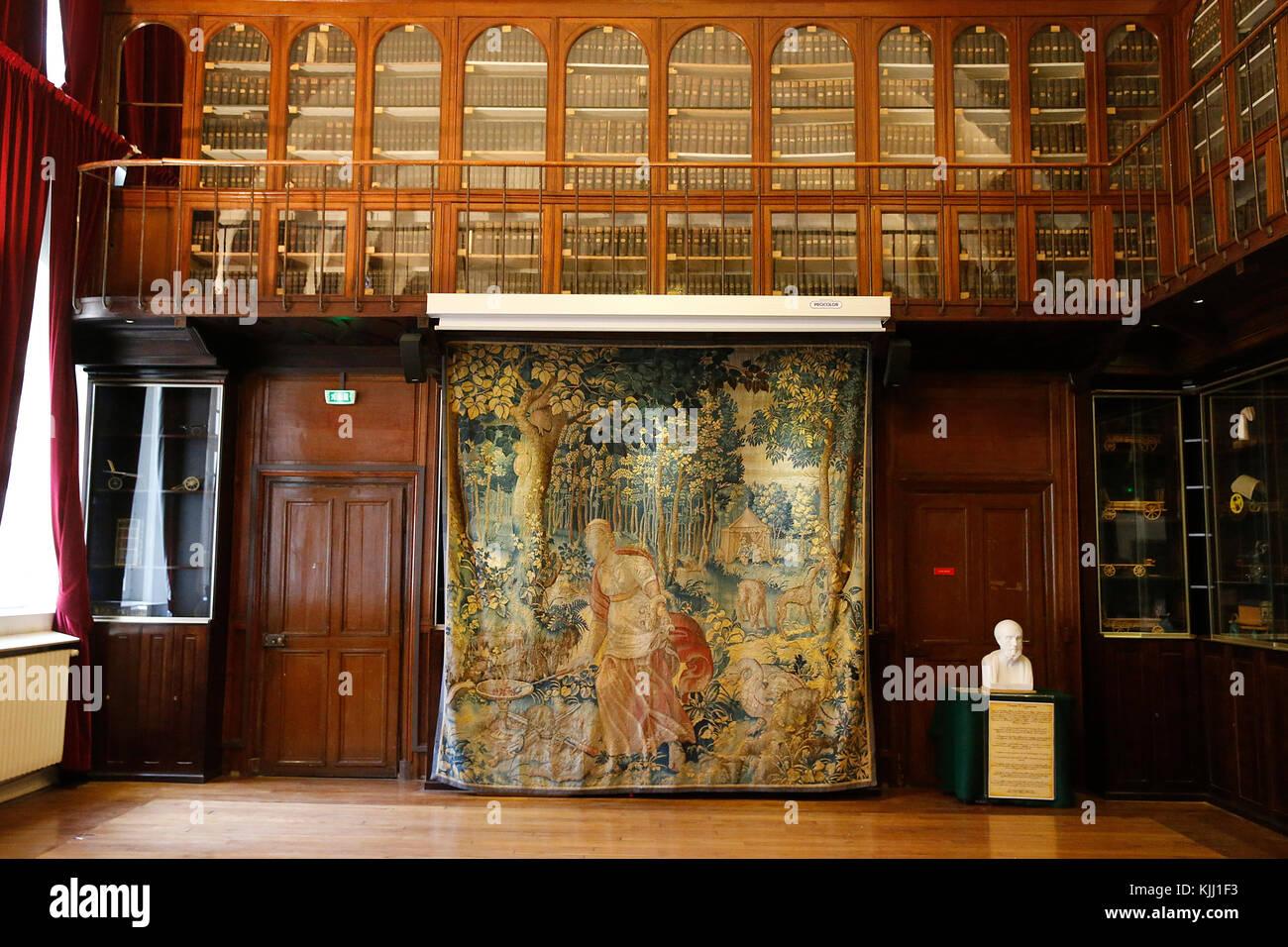Val de Grace. Library. France. - Stock Image