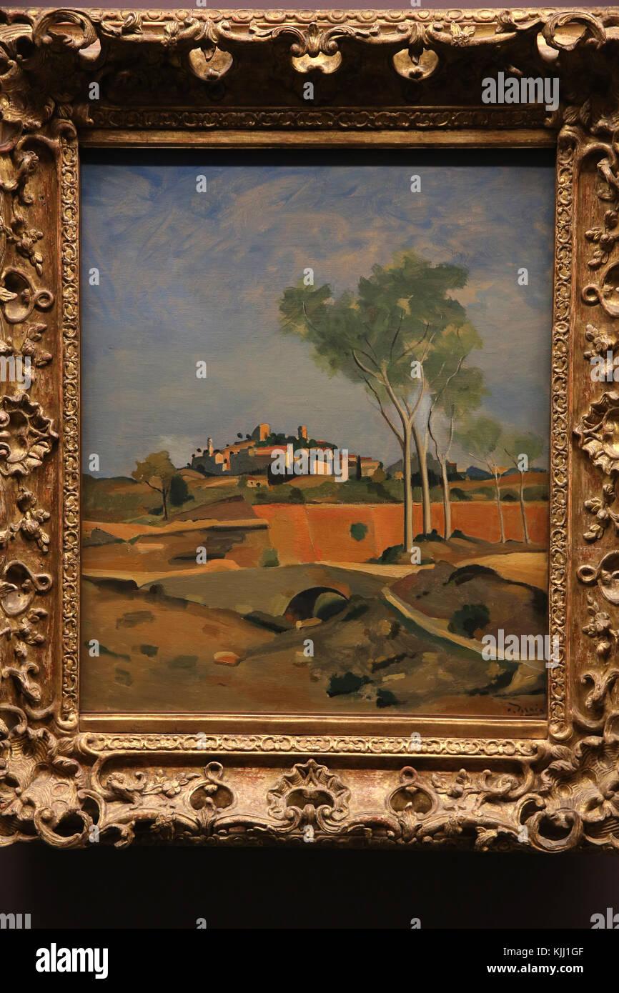 MusŽe de l'Orangerie, Paris. AndrŽ Derain, Paysage du Midi, vers 1932. Huile sur toile. France. - Stock Image