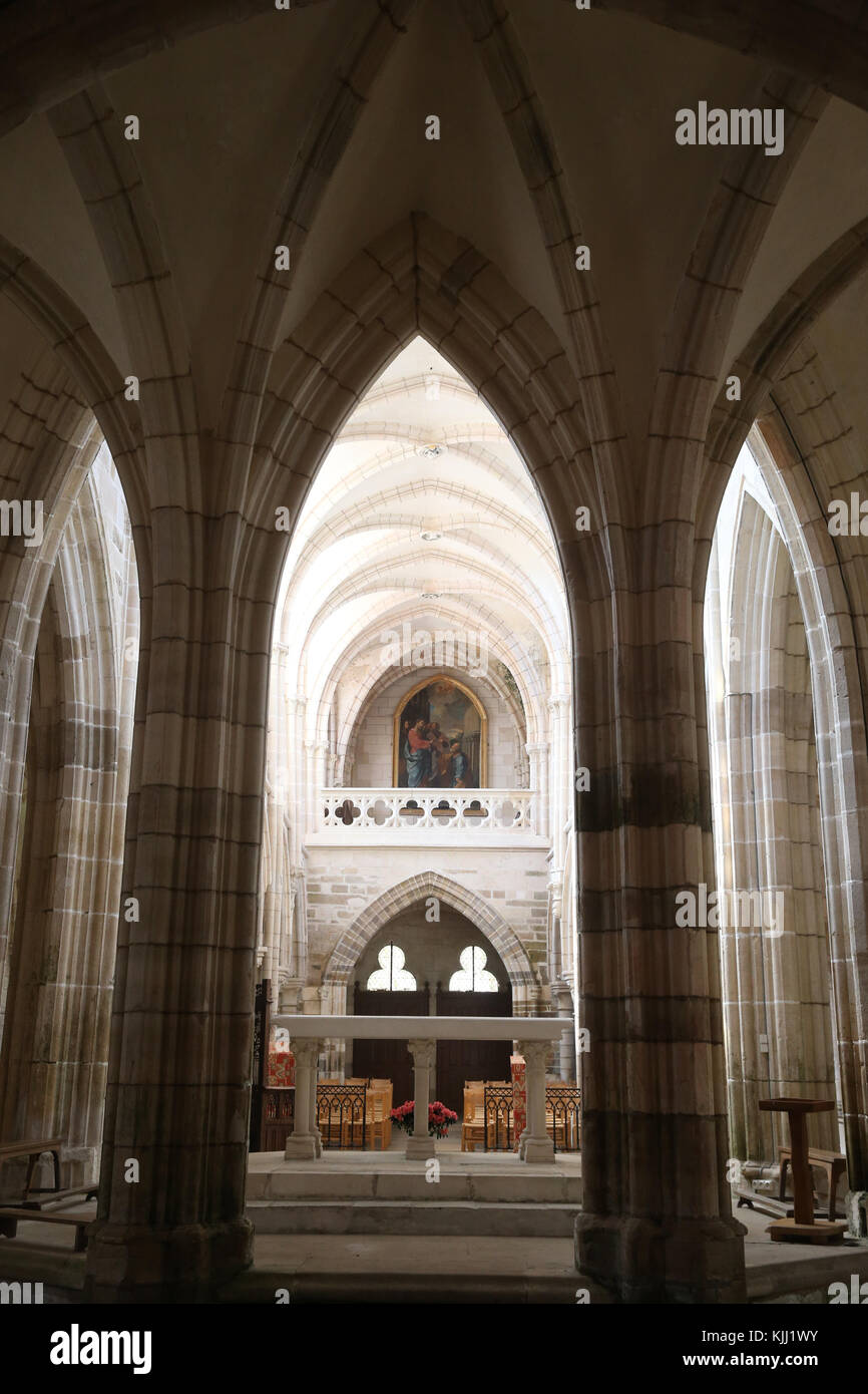 Saint-Pere church.  Gothic architecture. The choir.  France. Stock Photo
