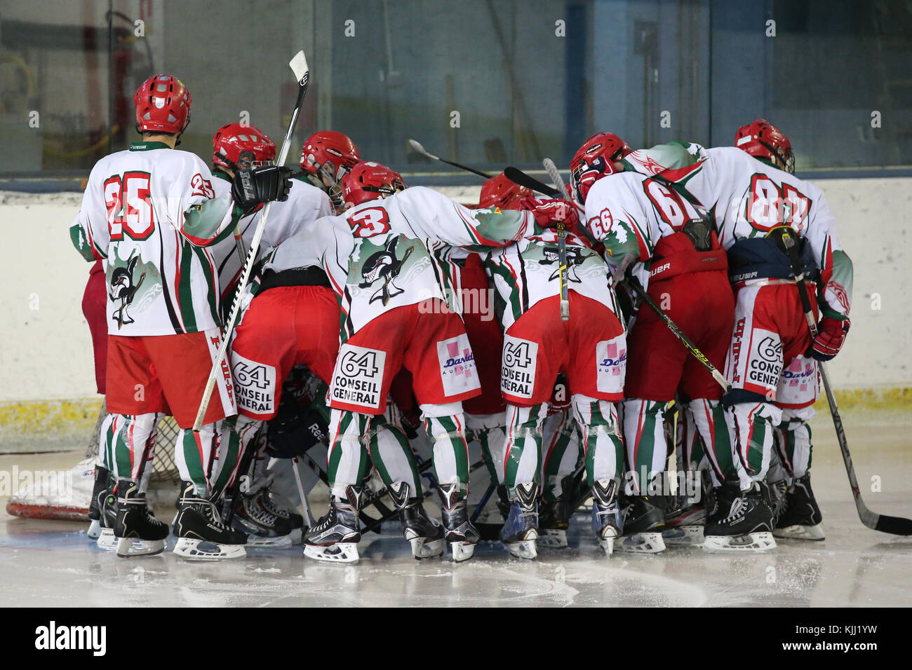 Ice hockey match. France. - Stock Image