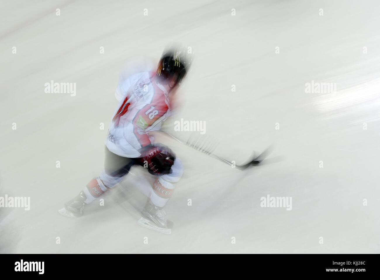 Ice Hockey match.  Mont-Blanc vs Amiens.  France. - Stock Image