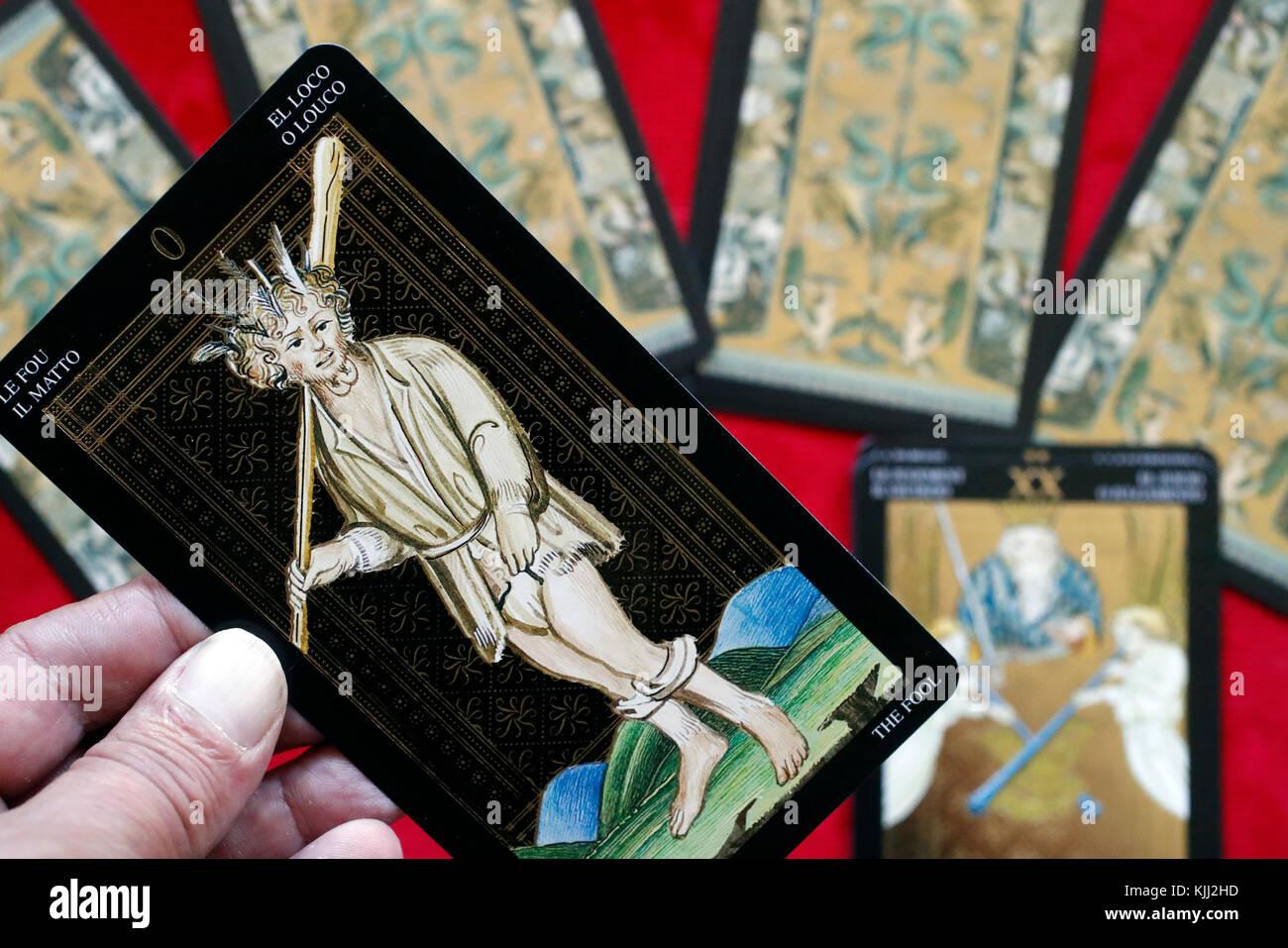 Tarot cards. The fool. - Stock Image