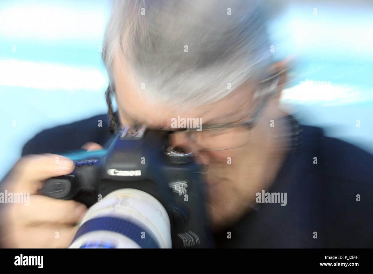 Canon photographer.  France. - Stock Image