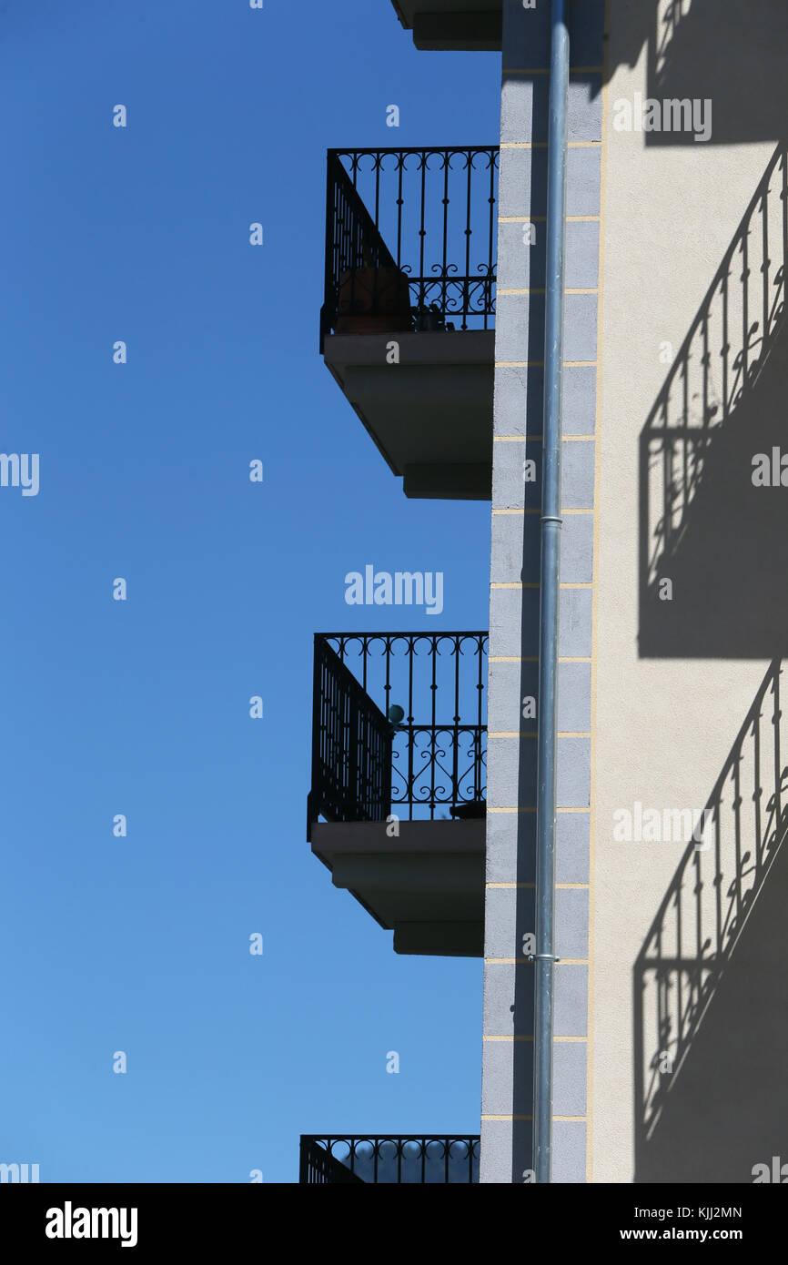 Apartments and balconies.  France. - Stock Image