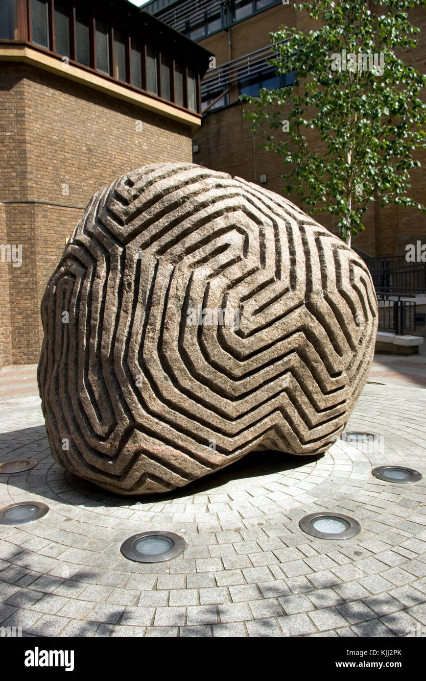 Sculpture by  Peter Randall-Page - Stock Image