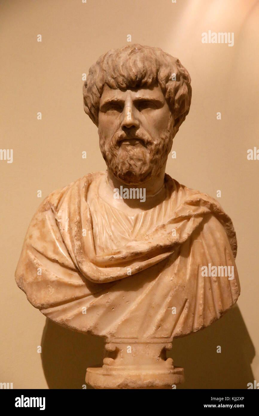 Capitoline museum, Rome. Ritratto maschile. Etˆ adrianea (117-138 d C). Italy. - Stock Image