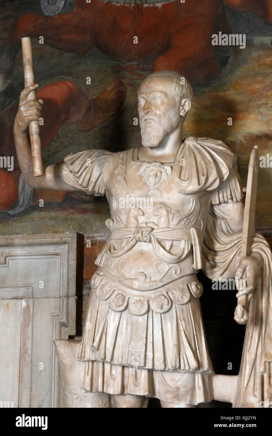 Capitoline museum, Rome. Hall of Captains. Statue. Italy. - Stock Image