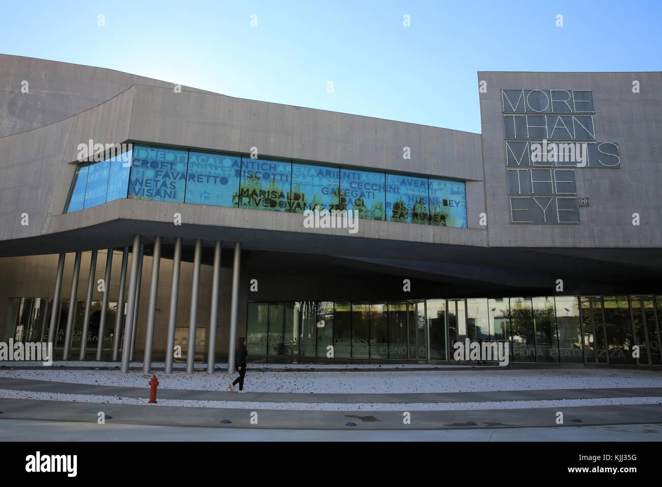 MAXXI, National museum of 21st century Art, Rome. Italy. - Stock Image