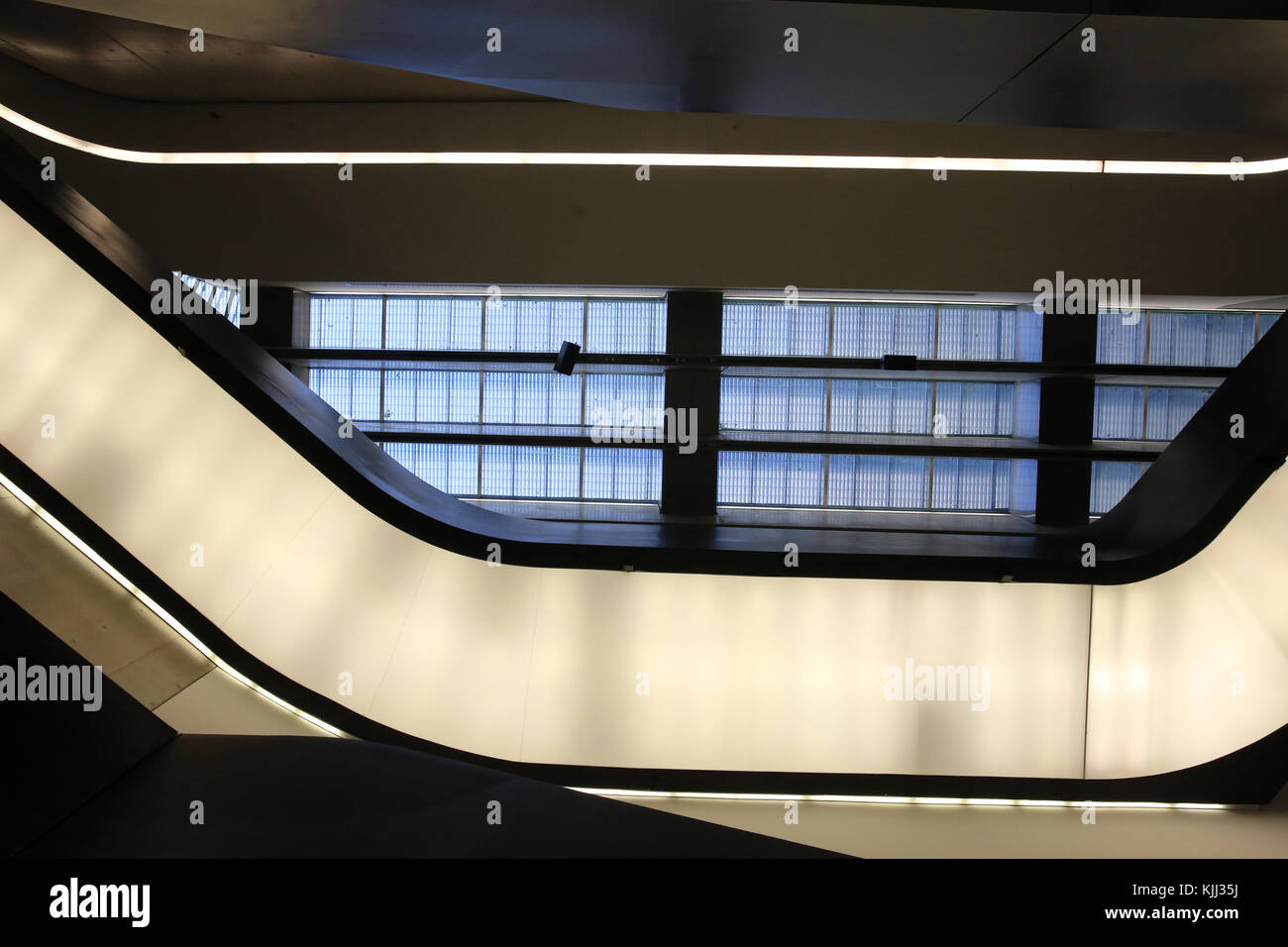 MAXXI, National museum of 21st century Art, Rome. Italy. Stock Photo