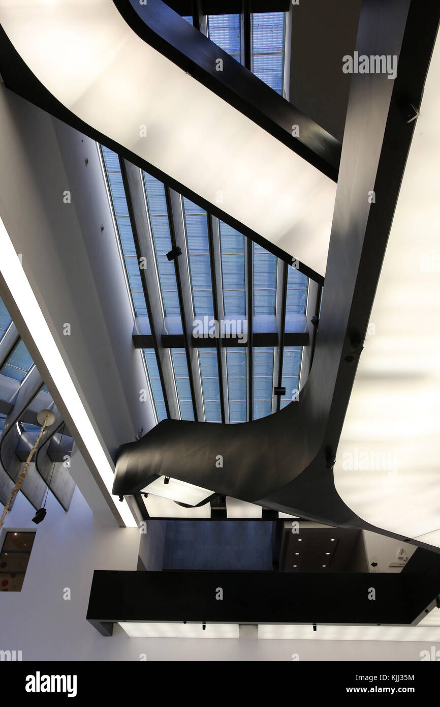 MAXXI, National museum of 21st century Art, Rome. Italy. Stock Photo