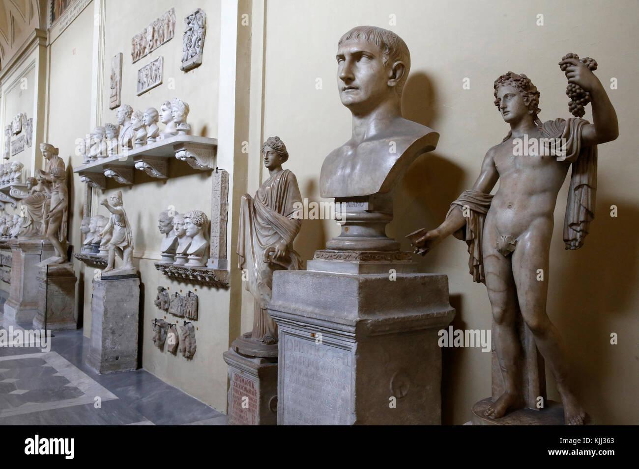 Vatican museums, Rome. Chiaramonti museum. Italy. - Stock Image