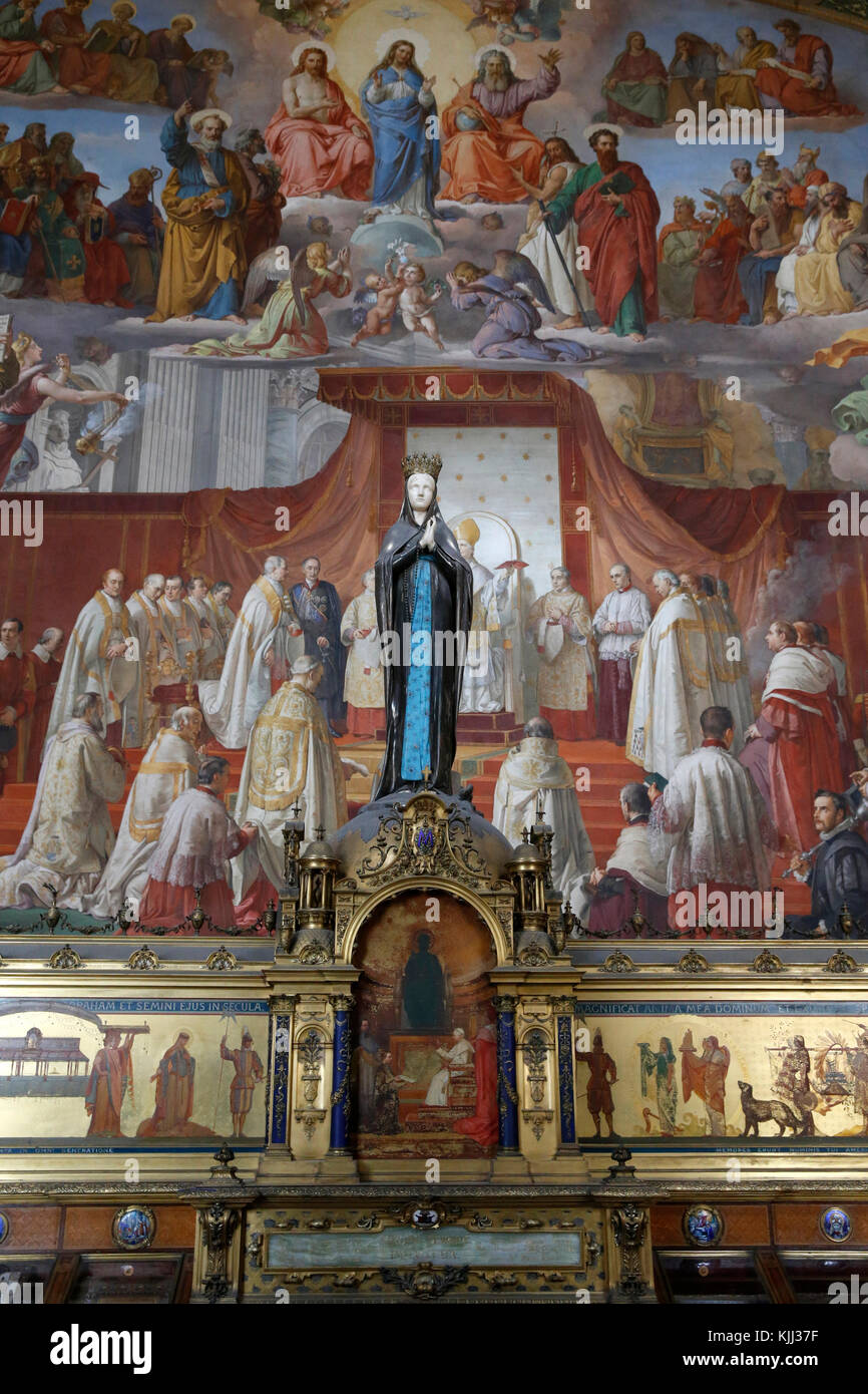 Vatican museums, Rome. Fresco in the Sala dell'immacolata. Italy. - Stock Image