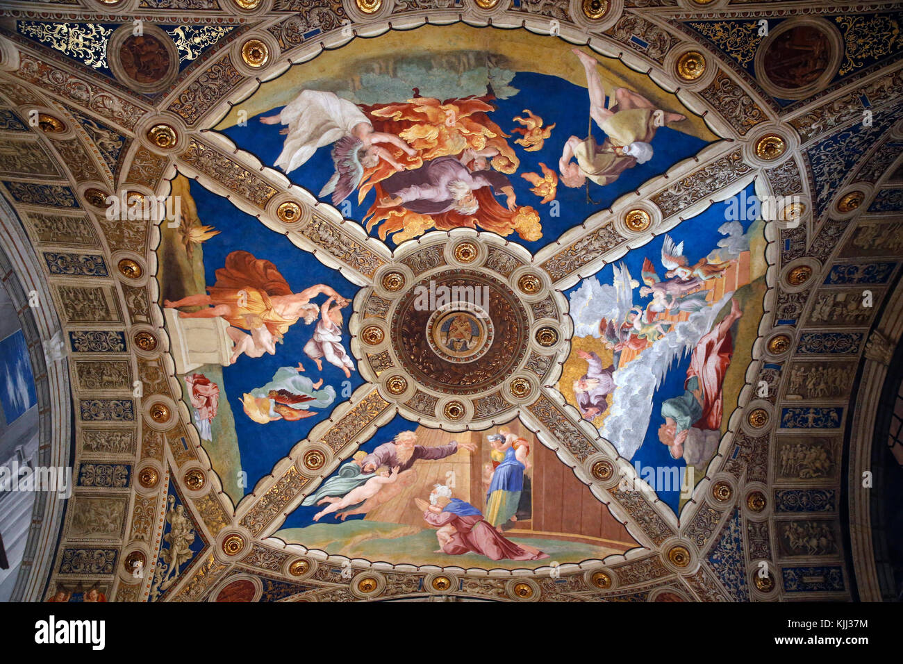 Vatican museums, Rome. Room of Heliodorus. Raphael. Italy. - Stock Image