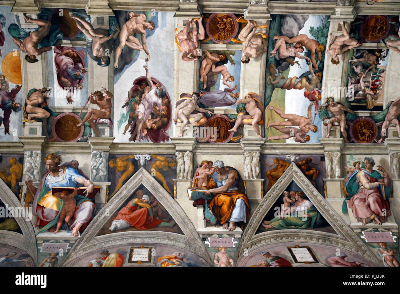 Vatican museums, Rome. Sixtine chapel. Italy. - Stock Image