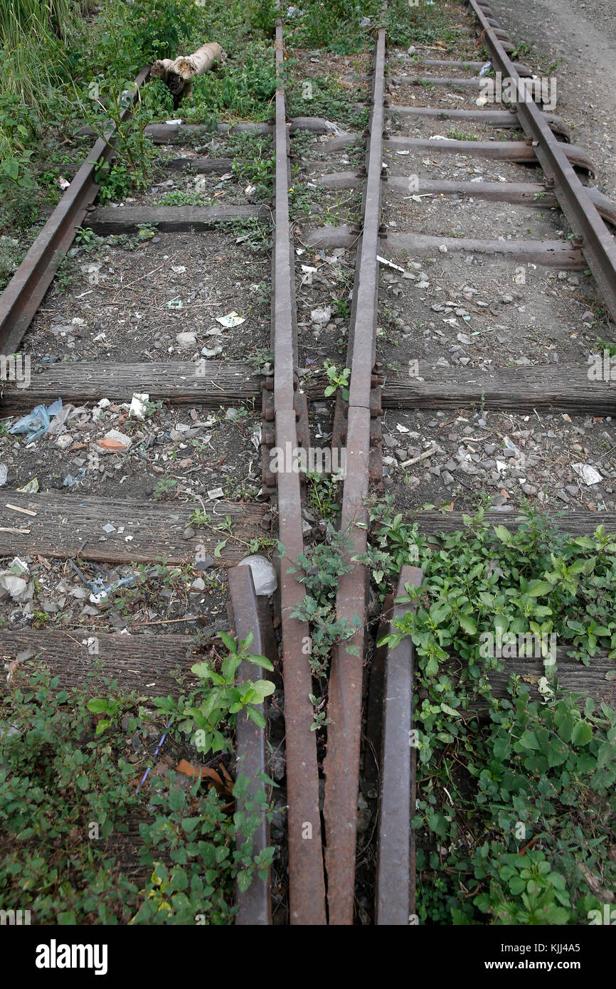 Disused railway line. Battambang.  Cambodia. - Stock Image