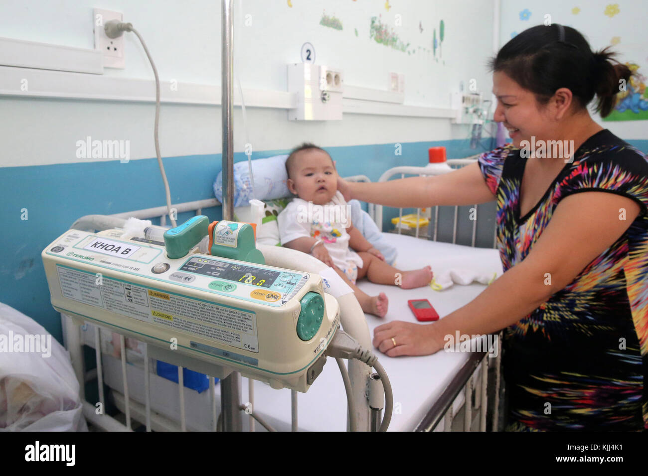 The Heart Institute offer high-quality care to Vietnamese patients suffering from heart diseases.  Vietnam. - Stock Image