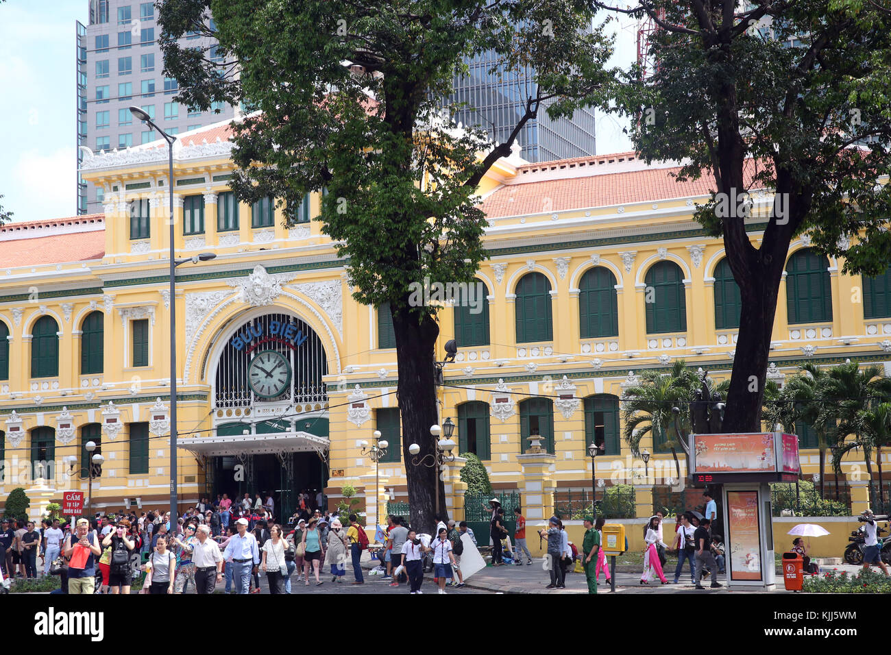 Colonial architecture.  Ho Chi Minh City.  Vietnam. - Stock Image