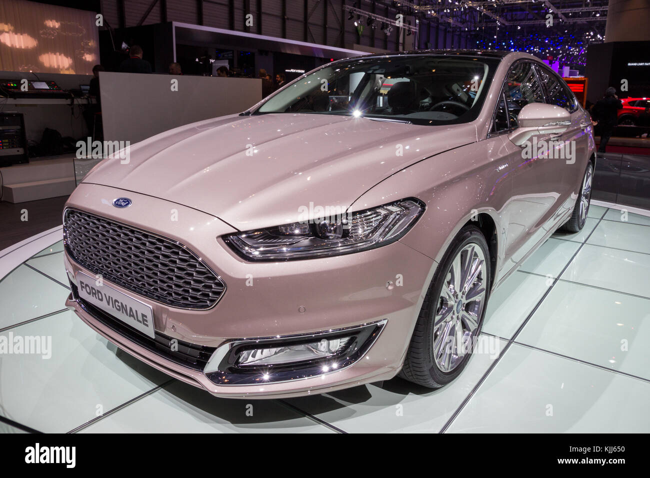 geneva switzerland march 1 2016 2017 ford mondeo vignale car stock photo 166357100 alamy. Black Bedroom Furniture Sets. Home Design Ideas