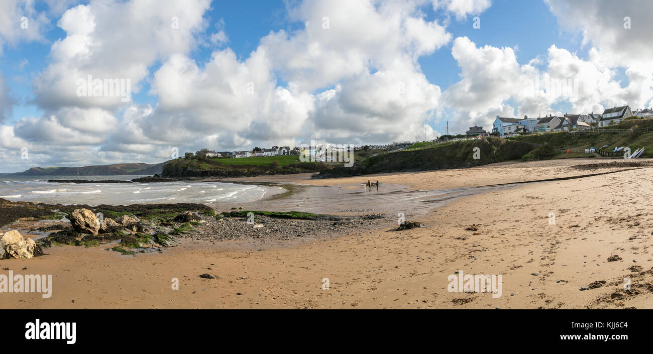 Aberporth Beach, Cardiganshire, West Wales Stock Photo