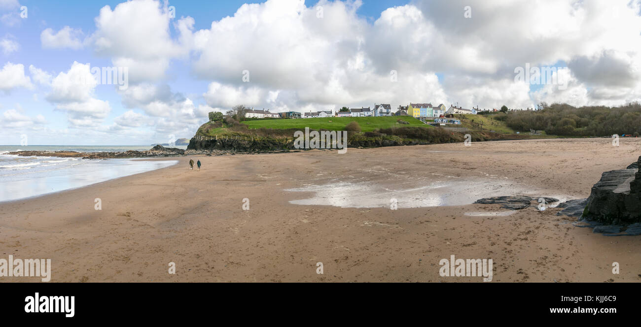 Aberporth Beach, Cardiganshire, West Wales - Stock Image