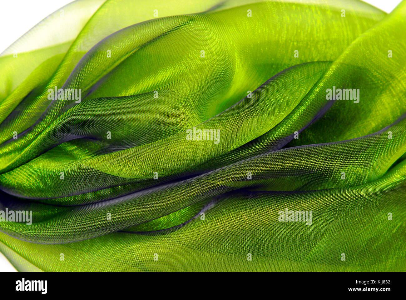 closeup of the wavy organza fabric - Stock Image