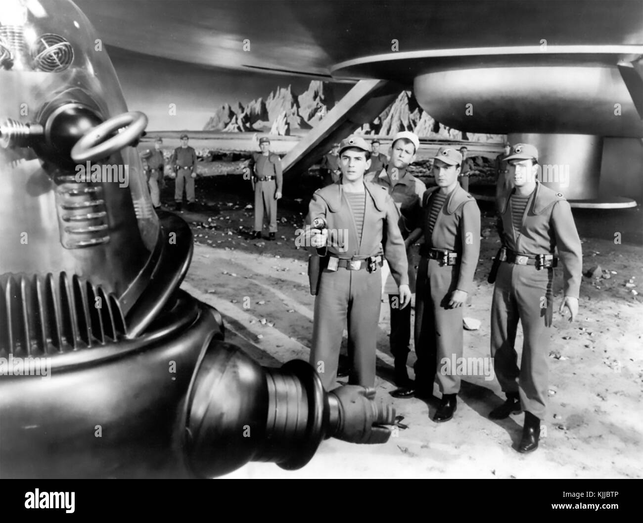 FORBIDDEN PLANET 1956 MGM science fiction film with Robby the Robot - Stock Image